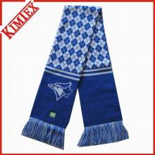 High Quality Acrylic Knitted Jacquard Football Soccer Fans Scarf