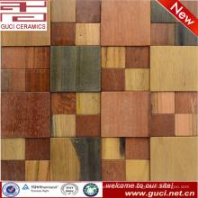 diseño rústico azulejo de aspecto de madera maciza decoración de azulejos de mosaico