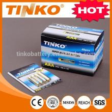 OEM Super Alkaline battery LR03 AAA 2or4pcs/blister AA/AAA/C/D/9V23A/27A