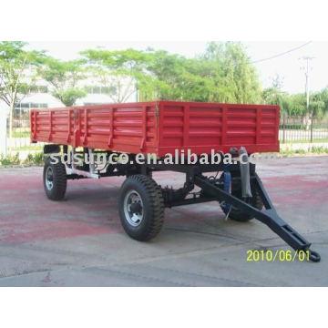 Remorque de tracteur à deux essieux