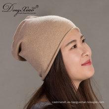 Invierno de las mujeres de encargo del punto del ganchillo coreano hecho punto Cashmerebeanie Cap Hat