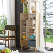 SMT Oak  4 Shelf Bookshelf Modern Bookcase Display Shelf Storage Organizer cabinet  for Living Room, Home Office, Bedroom