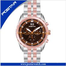 Reloj comercial 2016 en diseño de logotipo personalizado occidental con precio de fábrica
