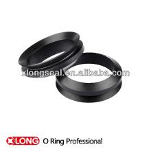 Mini anillo de goma V negro fresco para el sello