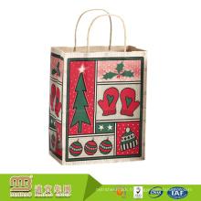 Professionnel Emballage Usine Personnalisé Impression Fantaisie Recyclé Cadeau Emballage Sacs En Papier Kraft De Noël