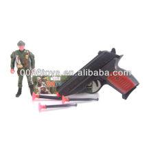 16cm cor preta com arma de brinquedo de bala suave