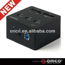 ORICO 3H3C USB3.0 HUB Lecteur de carte Tout en un pour OEM, USB3.0 Aluminium HUB; Hub de lecteur de cartes