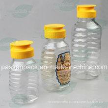 350g plástico mel jarra com tampão de válvula de silicone não-gotejamento (PPC-PHB-06)