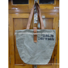 Grey Screen Print Bag