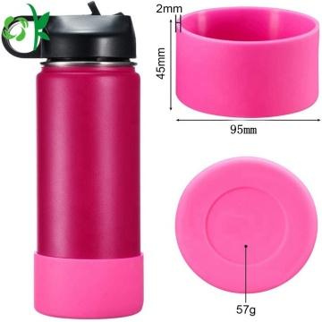 Housse de protection en silicone pour manchon de bouteille coloré