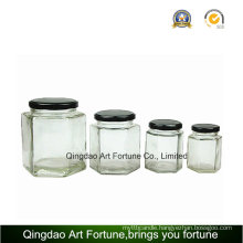 Glass Jar Bottle with Metal Tin Lid for Storage