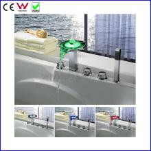 Deck Mounted China Bath&Shower Faucet LED Bathtub Faucet (FD15304F)
