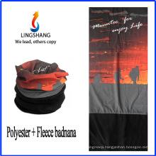 LINGSHANG fashion warm tube seamless bandana polar fleece multifunctional bandana