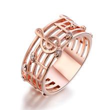 Preço de fábrica de alta qualidade Notação de música característica anel de cristal em zinco