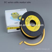Tipo de termorretráctil tipo CE Tubo de marcador de cable, manguito de cable con color personalizado