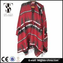 El último poncho del telar jacquar de la bufanda del mantón del mantón de la alta calidad del diseño del nuevo estilo