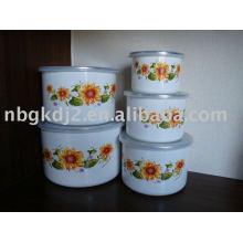 porcelain enamel mixing bowl sets for promotion