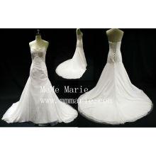 Эйфелева сексуальная спинки V-образным вырезом аппликация кружева чепель поезд свадебное платье БЫБ-14599