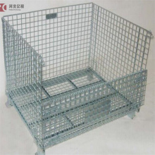 Industrial stackable storage wire containers