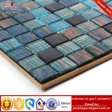 China fornecimento bule Hot melt telha de mosaico de fio de ouro para a parede da piscina