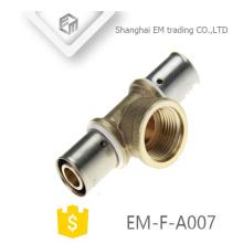 Conector de Compressão Cromado EM-F-A007 Latão 3-way encaixe de tubulação