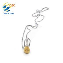 Élégante mode dames bijoux en acier inoxydable collier pendentif chaîne