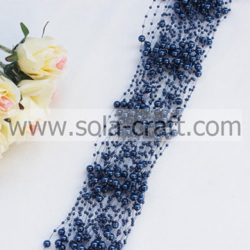 3 + 8 MM Blu Navy Link perla imitazione Garland in rilievo