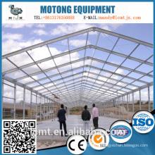 Structure en acier réutilisable pour le logement de volaille