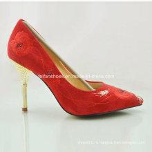 Новый стиль мода дамы туфли на высоких каблуках Свадебные туфли (OLY16311-12)