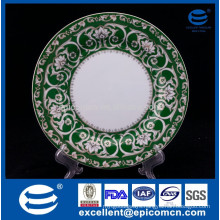 """popular Eastern style gold printing porcelain dessert plate 7.5"""" china side plate"""