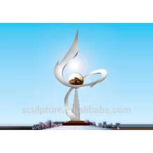 2015 New Large Outdoor Stainless Steel Sculpture Modern Metal Garden Sculptures natural