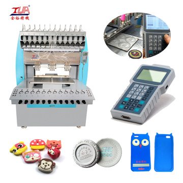 12-Warna Soft Rubber phone shell dispensing making Machine