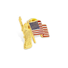 Match Lapel Pin, Flag Offset Printed Badge (GZHY-YS-010)