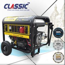 CLASSIC 6KW Gensets Pequenas Energia, Easy Move Com Rodas Geradores Portáteis Para Casa, Poderoso Novo Modelo Geradores De Gasolina