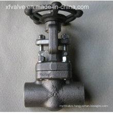 API602 800lb/1500lb/2500lb Forged Steel Thread Gate Valve