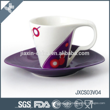 New design craft coffee cup small cup set porcelain coffee cup set
