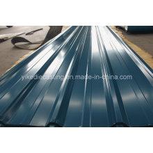 Hoja de techo de metal corrugado Ibr PPGI
