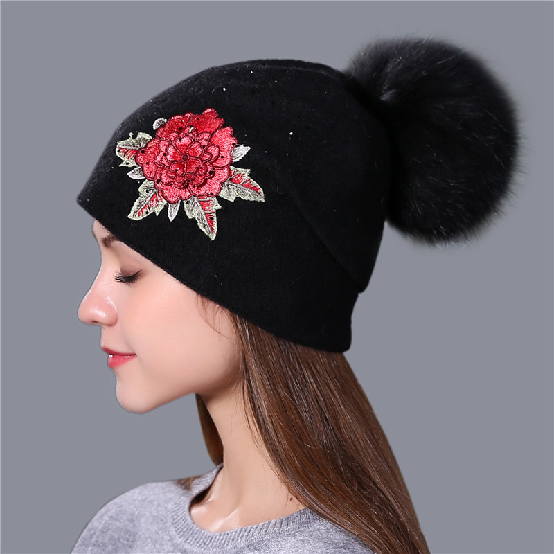 Winter Hat Fashion Embroidery