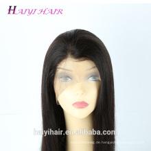 Nachtverteiler Silky Straight 100 Jungfrau Remy Brasilianische Menschenhaar Volle Spitze Perücke Mit Dem Babyhaar