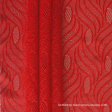 polyamide soft elastic floral jacquard breathable mesh fabric for underwear