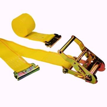 Estilingue amarelo 2 '' X 16 'Ratcheting E-Track Logistic Ratchet Belt Tensioner