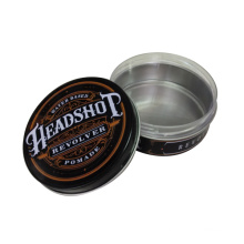 Round Shaped Metal Tin Container for Shoe Polish