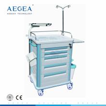AG-ET005B1 abs carro de enfermería médico hospital instrumento quirúrgico carretilla