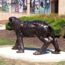 Estátua ao ar livre do tigre do bronze da decoração do jardim para a venda