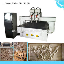 1325 wood cnc router with double head heavy duty frame