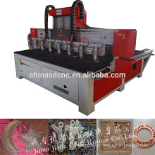 Multi function cnc wood carving / cnc wood cutting machine with 8 spindle