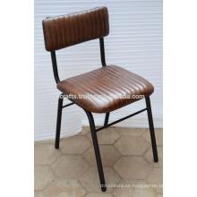 Silla de cuero industrial de Baquet Nuevo diseño de cuero genuino asiento