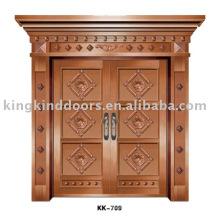 Aluminium Tür KK-709 für große Stahltür mit Kupfer Farbe
