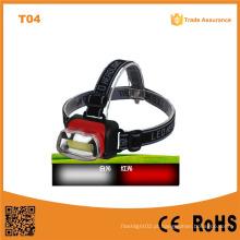 T04 COB Farol de alta potência Material ABS LED Farol de LED 1W