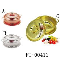 3 Stück aus rostfreiem Stahl Gold Sieb mit Deckel (FT-00411)